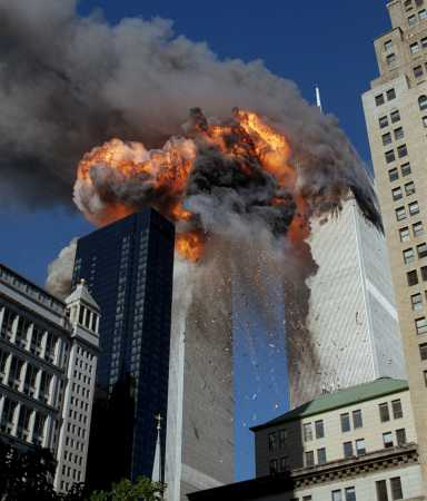 Jets impact the twin towers